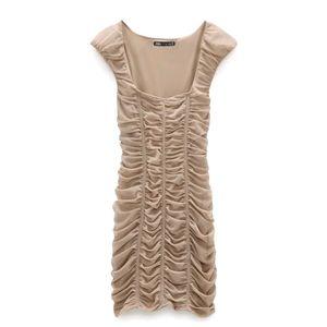 Zara figure defining dress with draped detail